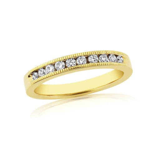 Yellow Gold Diamond Channel Set | Eternity Ring | DR1306
